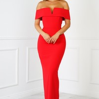 Angela Gown - Red