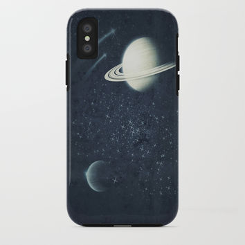 Deep Blue Space iPhone Case by duckyb