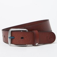 Volcom Thrift Leather Belt - Mens Belts - Brown