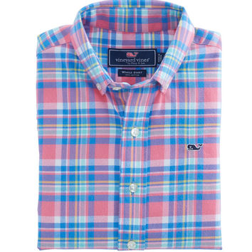 Cape Haze Plaid Flannel Whale Shirt