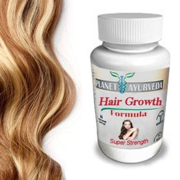 Grow Longer, Thicker Hair Products - by Planet Ayurveda - 100% Safe Herbal Hair Growth Pills for Fast Hair Growth Super Strength formula for longer hair thicker fuller hair. Naturally Stronger Growing Hair. 60 hair pills tablets. Grow Hair Fast!:Amazon:Bea