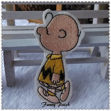 The master of the Snoopy , Charlie Brown Iron on Patch 76-H