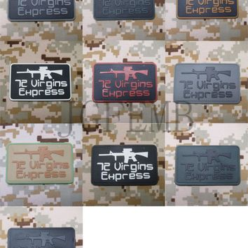 """72 Virgins Express"" Tactical Velcro Patch 