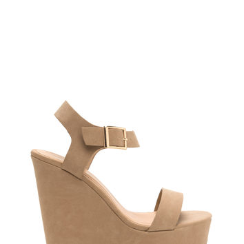 Single Life Faux Nubuck Platform Wedges GoJane.com