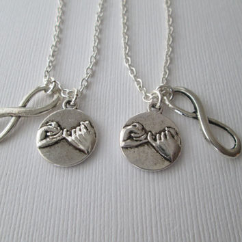 2 Pinky Promise Infinity, Best Friends Necklaces