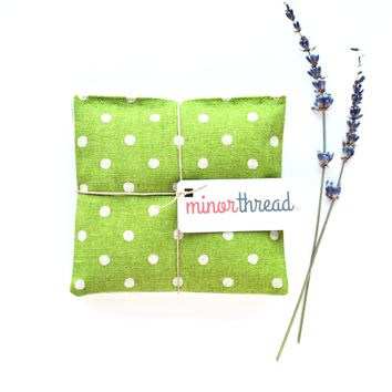 Organic Lavender Sachets in Mochi Dot Fresh Grass - Set of 2