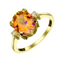 Diamonds International - Rings > Fashion > Caribbean Topaz & Diamond Ring