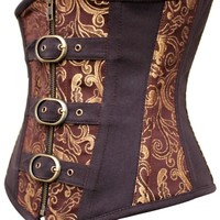 Gold Brown Brocade Underbust Corset