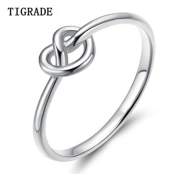 100% 925 Sterling Silver Infinity Knot Ring Simple Midi Knuckle Rings For Women Wedding Valentine Gift bague argent 925 femme