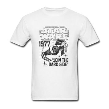 2017 Summer Men's Tee Shirt Star Wars 1977 Retro Tie Fighter Male T Shirts hombre TShirt Adult O Neck 3d Printed T-Shirt Cool