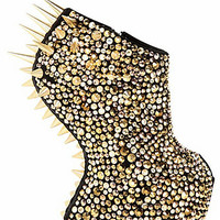 M.L.M. Rivet Spiked Open Toe Boots