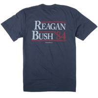 Rowdy Gentleman Reagan Bush '84 Tee- Navy