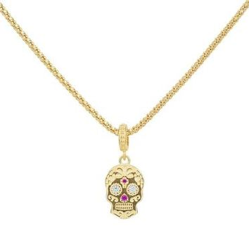 Golden Sugar Skull Necklace