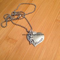 Harry Potter Always - Snape and Lily Necklace - hand stamped stainless steel heart