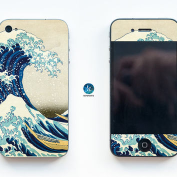 Great Wave of Kanagawa iPhone Skin iPhone decal iPhone sticker for iPhone 4, iPhone 4s, iPhone 5, iPhone 5s and iPhone 6 Japan Japanese