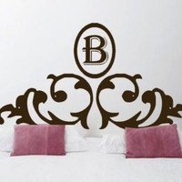 ShaNickers Wall Decal Headboard w/ Initial King by shanon1972