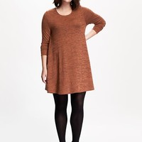 Old Navy Long Sleeve Knit Swing Dress
