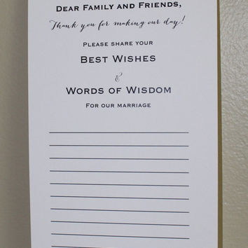 Wedding Words of Wisdom Cards - Best from Jotters and Journals