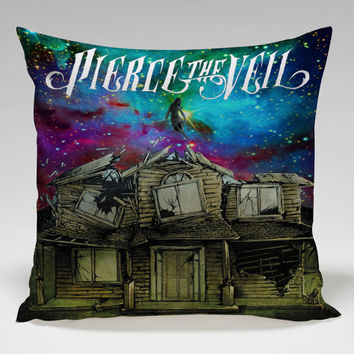 pierce the veil cool cover galaxy Square Pillow Case Custom Zippered Pillow Case one side and two side