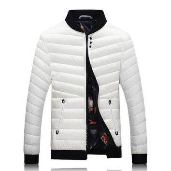 2017 winter Men's jackets 80% white duck down thick down jacket Men's trench coat down jackets men full size M-4XL