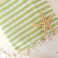 Premium Turkish Towel: Peshtemal, Bath, Beach, Spa Towel, Green, , mom, summer coverups, bridesmaid, mother's day
