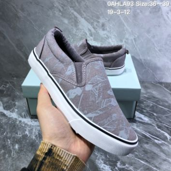 DCCK2 N919 Nike Toki Slip Print Fashion Baitie Leisure Foot Canvas Shoes Gray