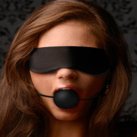 Lightweight Fleece Blindfold with Ball Gag