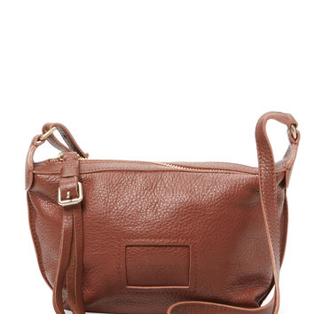 See by Chloe Women's Small Buckle & Tassel Pull Leather Crossbody - Brown