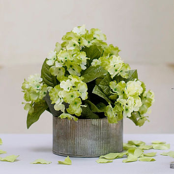 Rustic metal flower pot rusted zinc flower container perfect for your farm style wedding centerpiece or rustic home decor