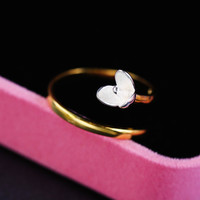 Gift Shiny Stylish Jewelry New Arrival Floral Simple Design Ring [6586118279]