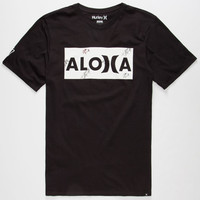 Hurley Sig Zane Aloha Mens T-Shirt Black  In Sizes