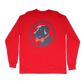 Original Logo Long Sleeve Tee in Cherry by Southern Proper - FINAL SALE