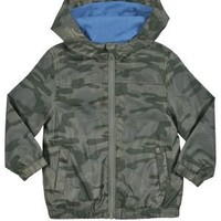 Clothing at Tesco | FF Army Print Zip through Mac > coats > Younger boys (1-7years) >