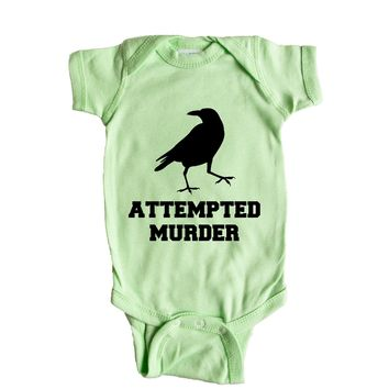 Attempted Murder  Baby Onesuit