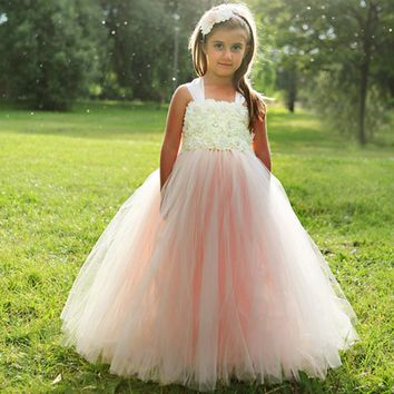 Blush Flower Girls Dress