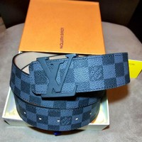 Louis Vuitton Mens LV Belt Damier Graphite size 32 NIB W/ AUTHENTICITY CARD