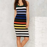 Glamorous Flying Colors Striped Knit Dress