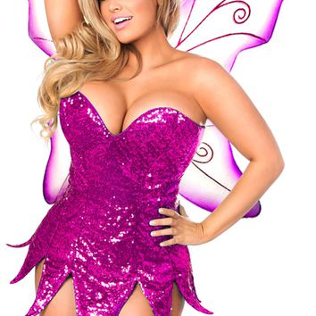 Top Drawer Premium Pink Sequin Fairy Costume