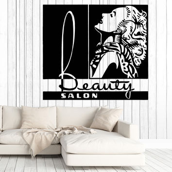 Vinyl Decal Wall Sticker Woman Hair And Beauty Salon Quotes Graphic image Unique Gift (n739)