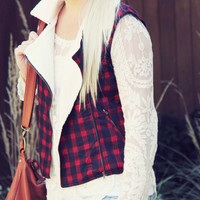 Plaid & Cloth Vest