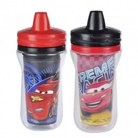 CARS 2-Pack Insulated Spill-Proof Sippy Cups with One Piece Lid from The First Years