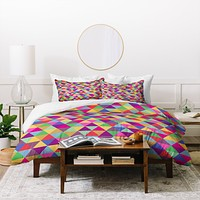 Bianca Green In Love With Triangles Duvet Cover