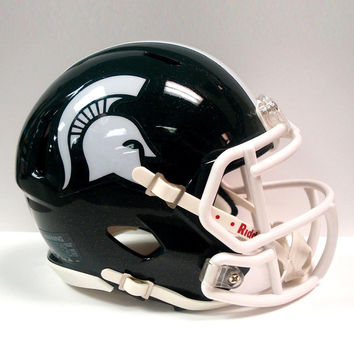 Riddell Miniature Ncaa Speed Helmet Michigan State