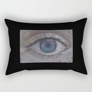 Eye 1# Rose Rectangular Pillow by drawingsbylam