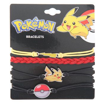 Pokemon Pikachu Cord Bracelet Set
