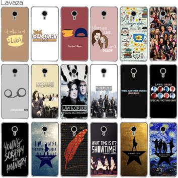 Lavaza Gilmore Girls Law & Order Special Victims Unit Hamilton Case for Meizu M6 M6S M5S M5 M5C M3 Note