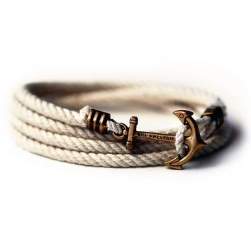 Atlantic Whalers Lanyard Hitch Rope Anchor Bracelet