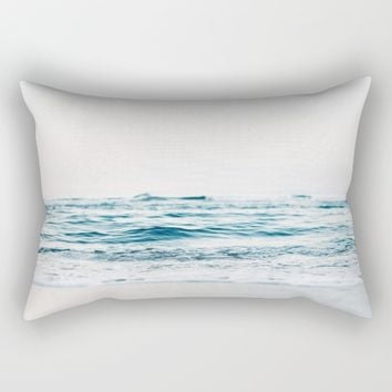 Beautiful White Beach Rectangular Pillow by Creativepics