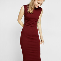 knit zip back sheath dress