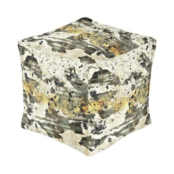 Abstract Wall Small Cubed Pouf